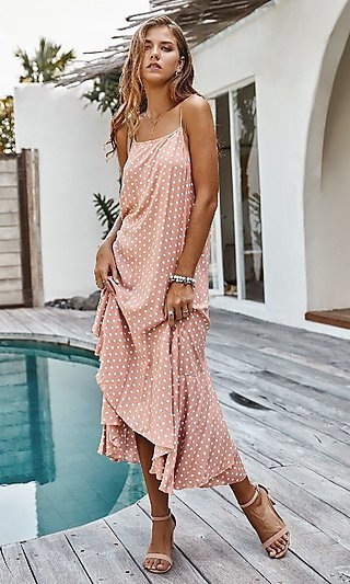 Tea Length Polka Dot Dress