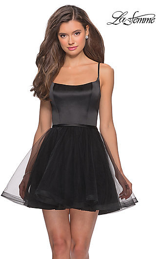 Short A-Line Homecoming Dress by La Femme