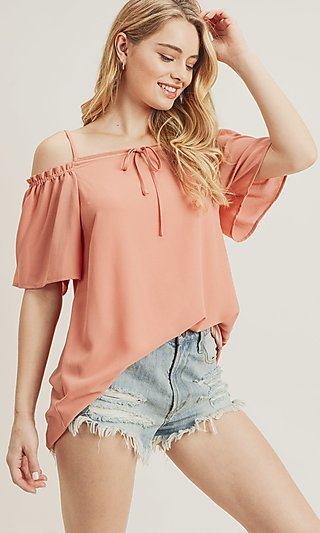 Off Shoulder Top with Straps