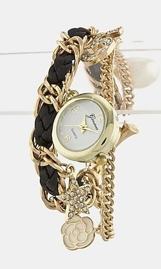Charm Watch Bracelet with Rope Chain