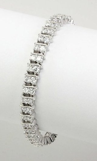 Double CZ Bracelet in Silver or Gold