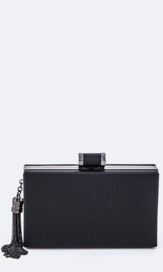 Box Clutch with Tassel