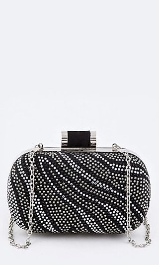 Crystal Zebra Clutch Purse
