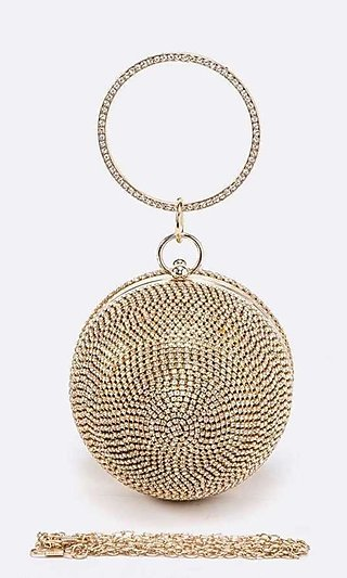 Disco Ball Purse with Handle & Shoulder Chain