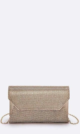 Satin Swing Clutch Purse with Studs