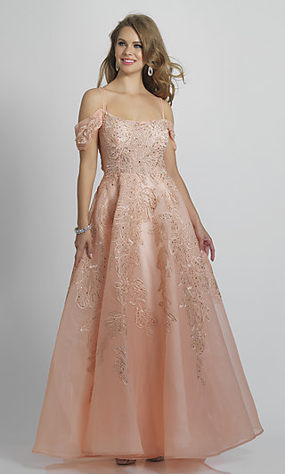 Statement-Back Blush Pink Ball Gown for Prom