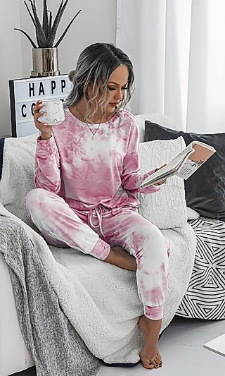 Top & Jogger Pant Tie-Dye Loungewear Set