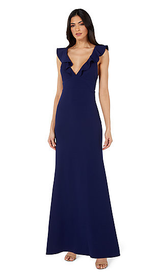 Navy Blue Simple Long Formal Gown 10982 by Jump