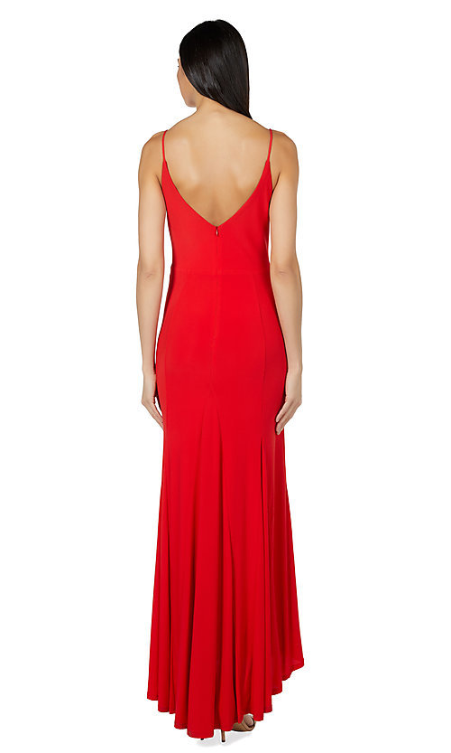 Image of classic long simple formal dress by Jump. Style: JU-21-11001 Back Image