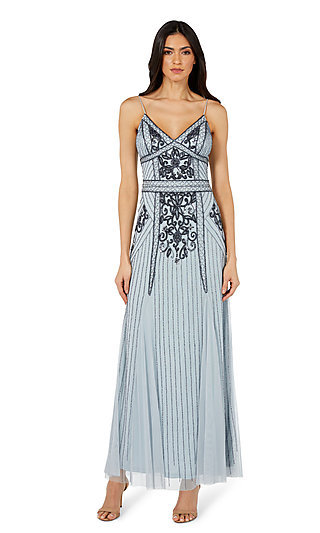 Jump Long Beaded Formal Gown 11091