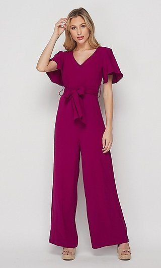 Short-Sleeve Casual  Women's Loose-Fit Jumpsuit