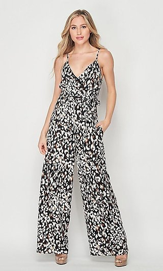 Women's Casual Animal Print Jumpsuit