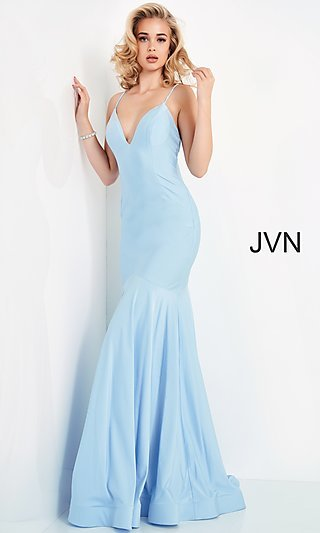 Simple Classic Long JVN by Jovani Formal Gown