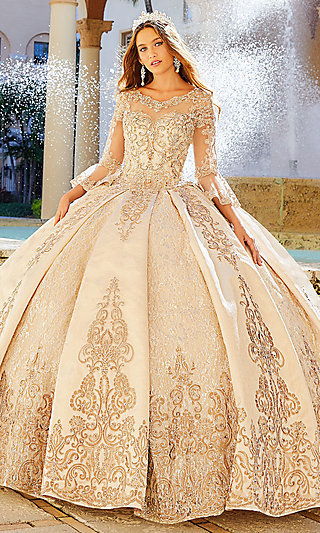 Princesa Quinceanera Ball Gown with Bell Sleeves