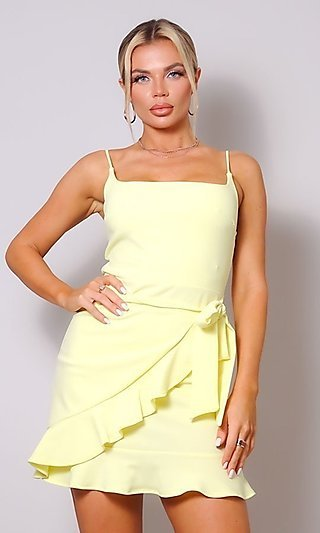 Sexy Short Wrap-Style Party Dress
