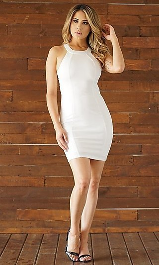 Tight Short Open-Back Party Dress