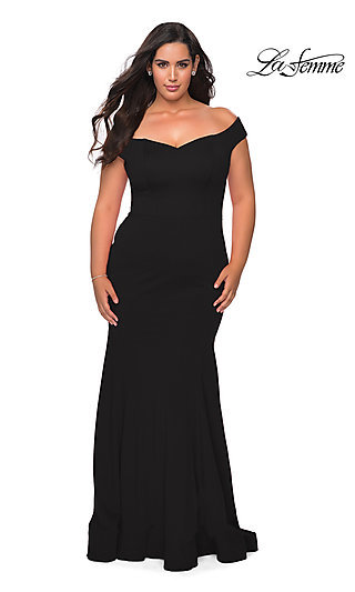 Classic Plus-Size Mermaid Prom Gown