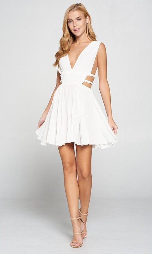 Image of short sexy casual dress with cut outs. Style: LAS-LOV-21-MD1286 Detail Image 6