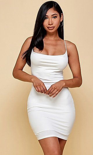 Sexy Backless Short Tight Cocktail Party Dress