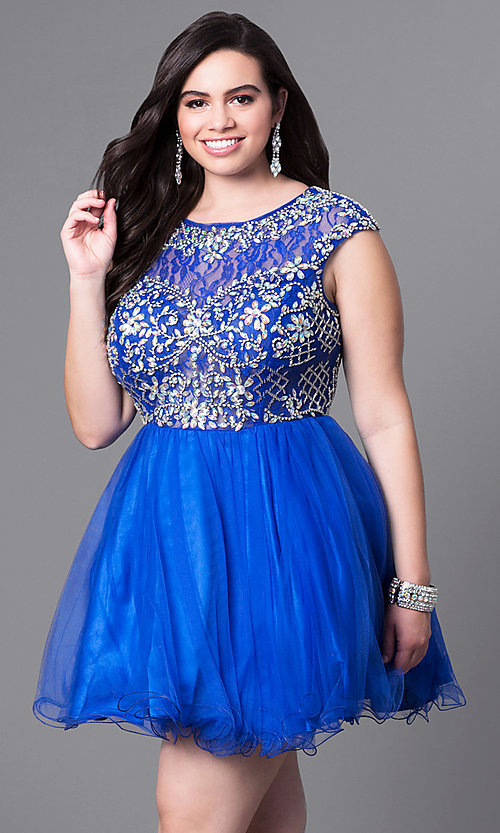 Image of beaded-bodice short babydoll homecoming dress. Style: DQ-21-9149 Detail Image 2