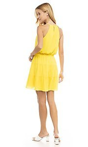Image of casual short summer party dress. Style: FG-NZB-21-SD115622 Back Image