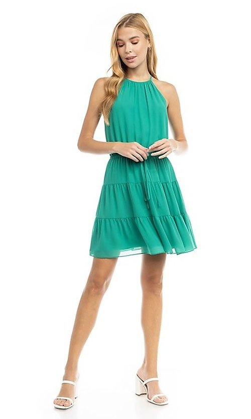 Image of casual short summer party dress. Style: FG-NZB-21-SD115622 Detail Image 1