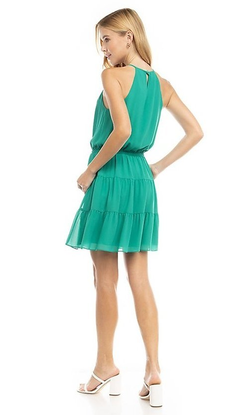 Image of casual short summer party dress. Style: FG-NZB-21-SD115622 Detail Image 2