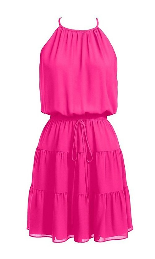 Image of casual short summer party dress. Style: FG-NZB-21-SD115622 Detail Image 3