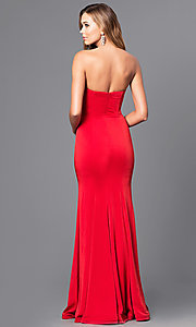 Image of strapless sweetheart long prom dress with beading.  Style: DQ-21-9720 Back Image