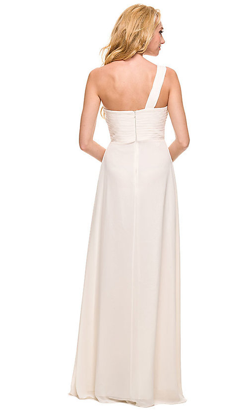 Image of sweetheart long one-shoulder formal evening gown. Style: NA-21-7125 Detail Image 2
