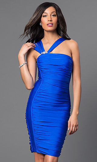 One Shouldered Cocktail Dresses