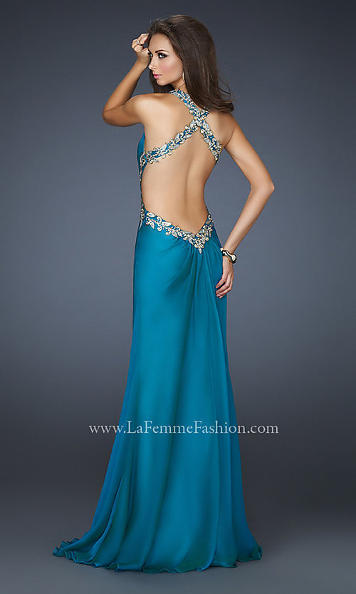 Long Prom Dress Style: LF-16288 Back Image