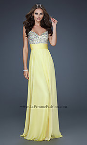 Image of La Femme beaded long formal dress. Style: LF-16802 Front Image