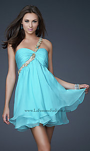 Short Prom Dress Style: LF-16060 Front Image
