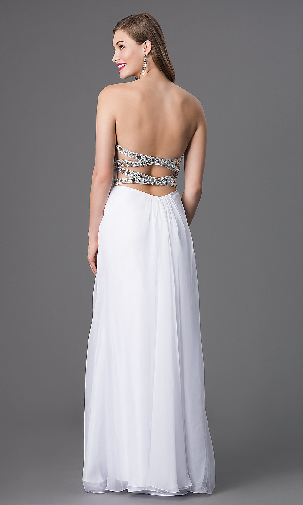a7f3483e99799 Yükle (1000x1666)Beaded Strapless La Femme Prom Gown -Simply DressesStyle:  LF-17909 Back Image.