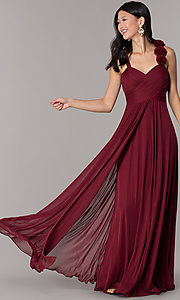 Image of long formal dress for prom  Style: DQ-8115 Detail Image 3