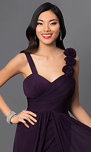 Image of long formal dress for prom  Style: DQ-8115 Detail Image 2