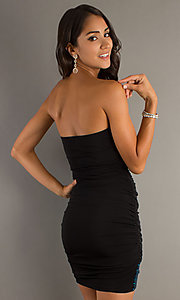 Image of City Triangles strapless short sequined dress.  Style: CT-9537-Z419 Back Image