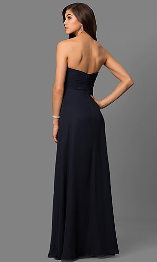 Long Strapless Prom Gowns, Long Black Prom Dress - Simply Dresses